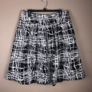 Rafaella Black & White Circle Skirt